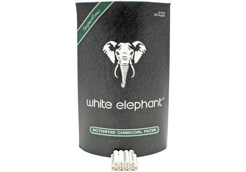 White Elephant 250 Activated Charcoal Filters 9 mm.