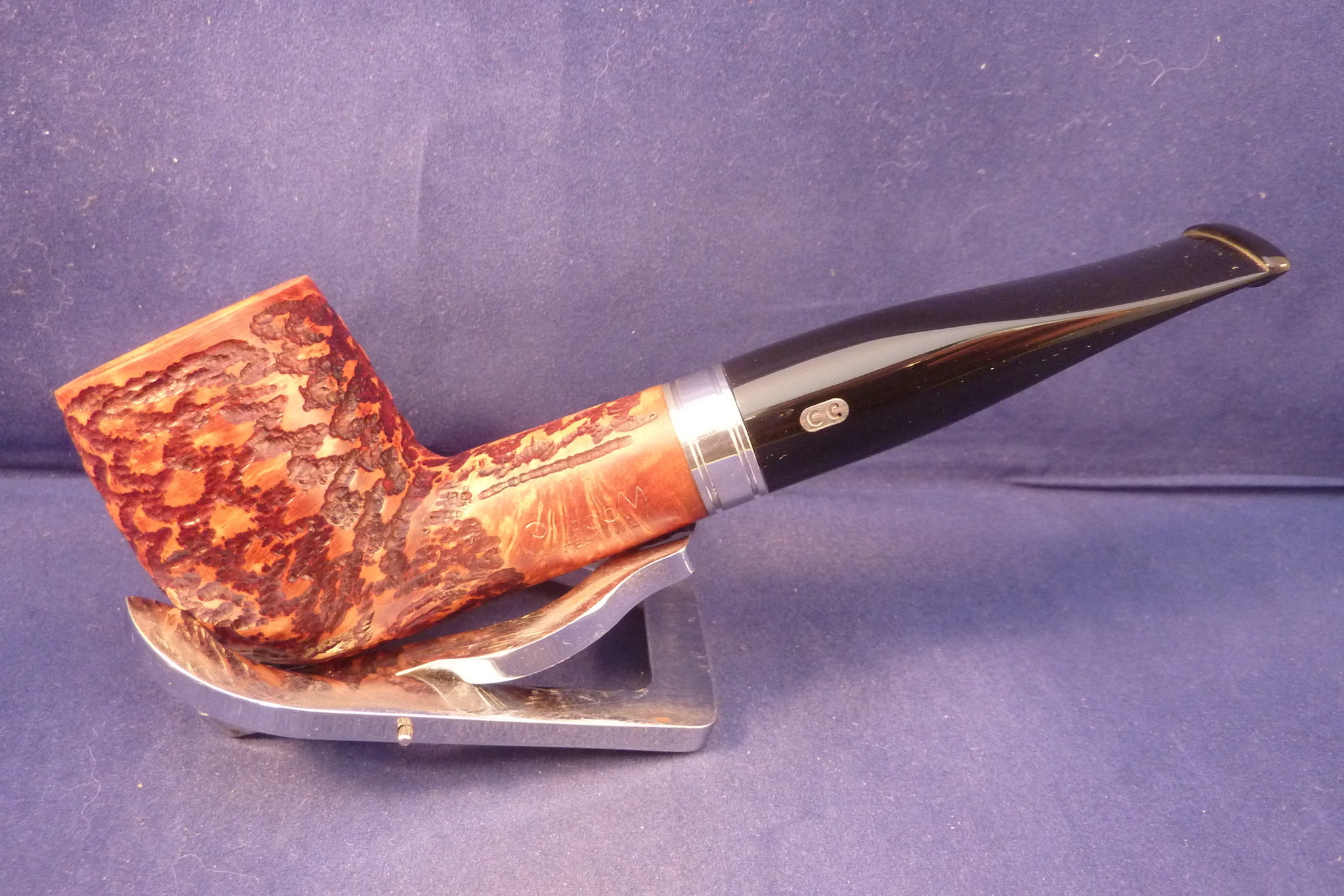 Sold Smoking Pipe Chacom Festival Rustic 703