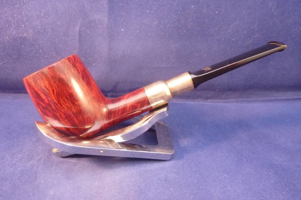 Sold Smoking Pipe Stanwell Sterling Silver Mounted 54