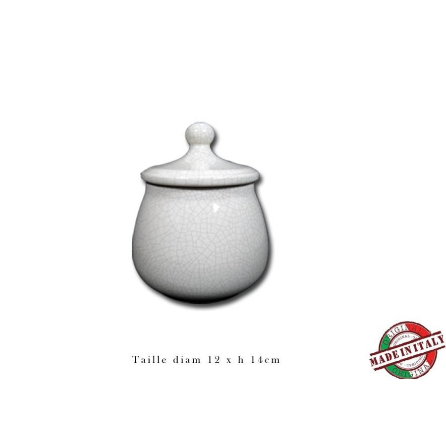 Chacom Tobacco Jar Ceramic White