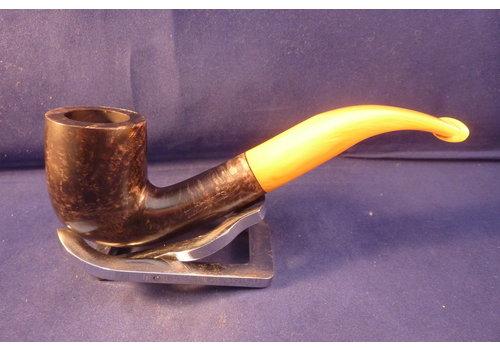Pipe Haddocks Dark Brown Bent Billiard