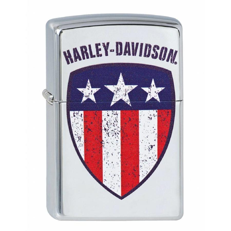 Aansteker Zippo Harley Davidson Flag
