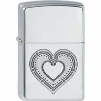 Lighter Zippo Heart Design Dots