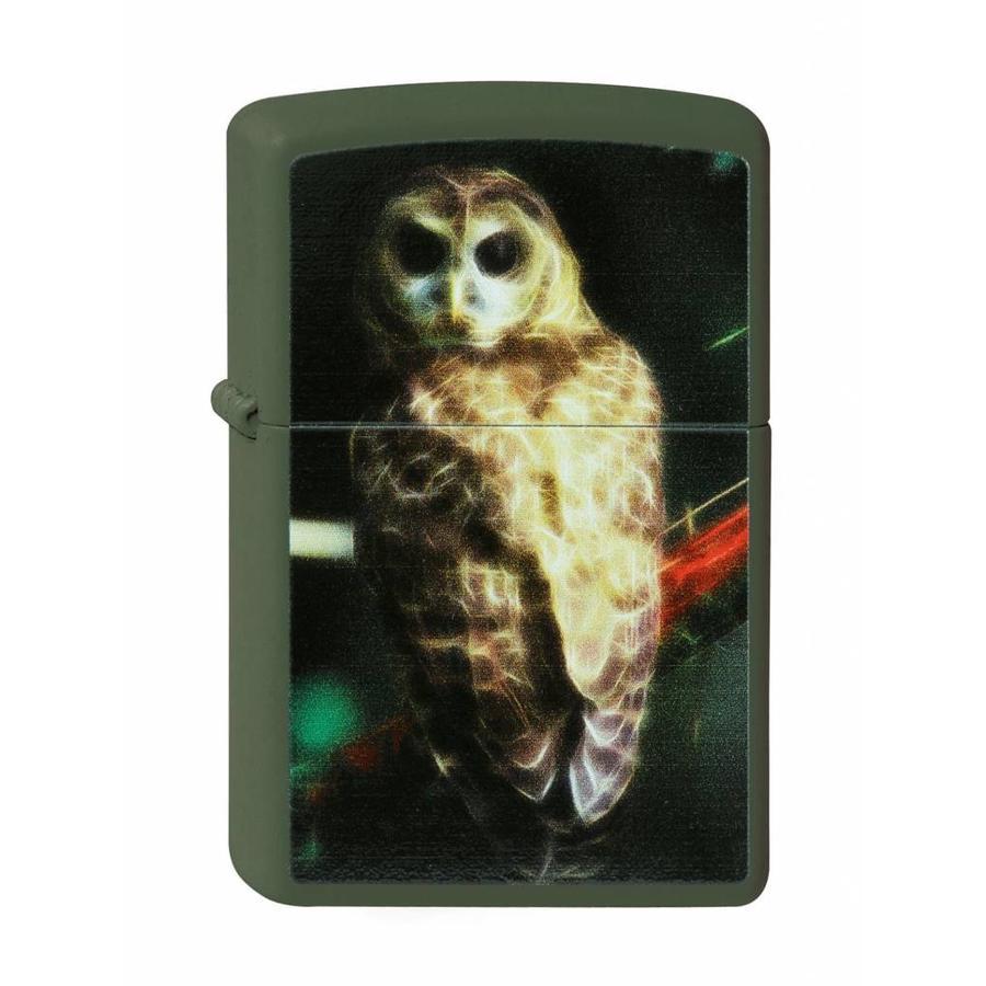 Lighter Zippo Fractal Owl