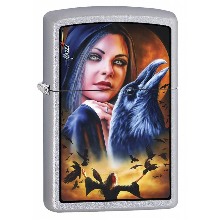 Lighter Zippo Mazzi Mystery Woman with Raven