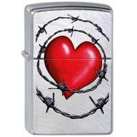 Lighter Zippo Heart and Barbed Wire