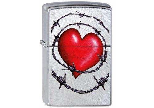 Aansteker Zippo Heart and Barbed Wire