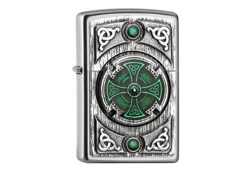 Lighter Zippo Celtic Green Cross