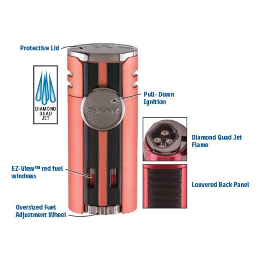 Lighter Xikar HP4 Quad Lighter Black Matte