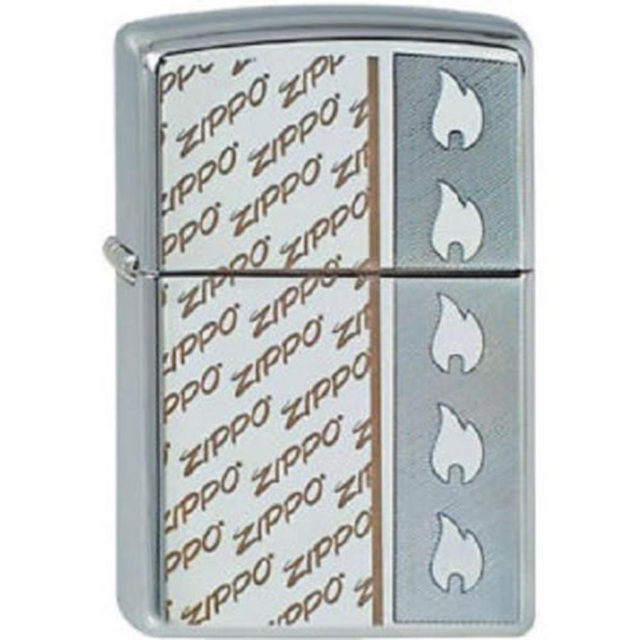 Aansteker Zippo Logo and Flame Design