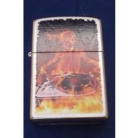 Lighter Zippo Skeletton DeeJay on Fire