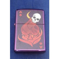 Lighter Zippo Ace with Skull