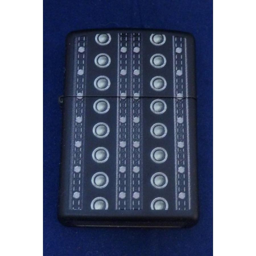 Lighter Zippo Black Button Design