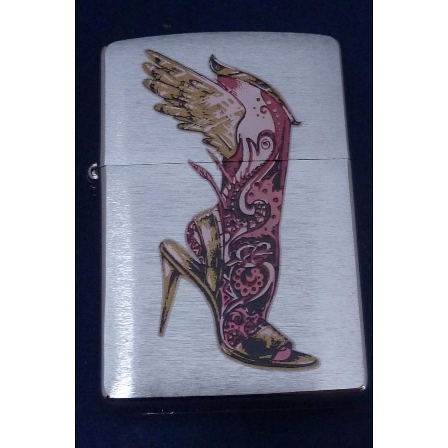 Lighter Zippo Leg with Wings and High Heels