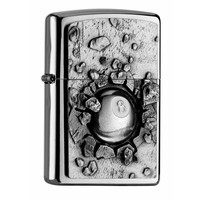 Lighter Zippo Eight Ball Emblem
