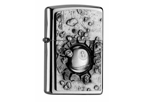 Lighter Zippo Eight Ball Emblem