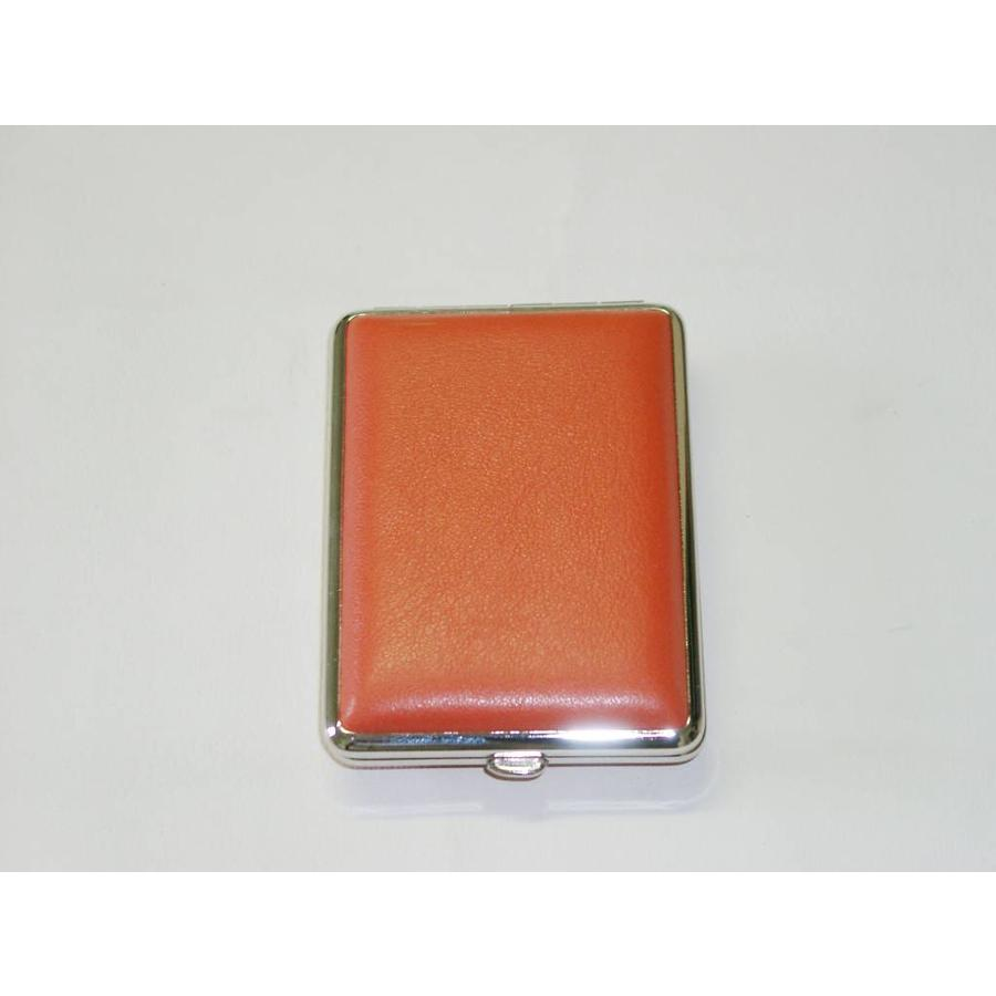 Cigarette Case Leather Orange Small