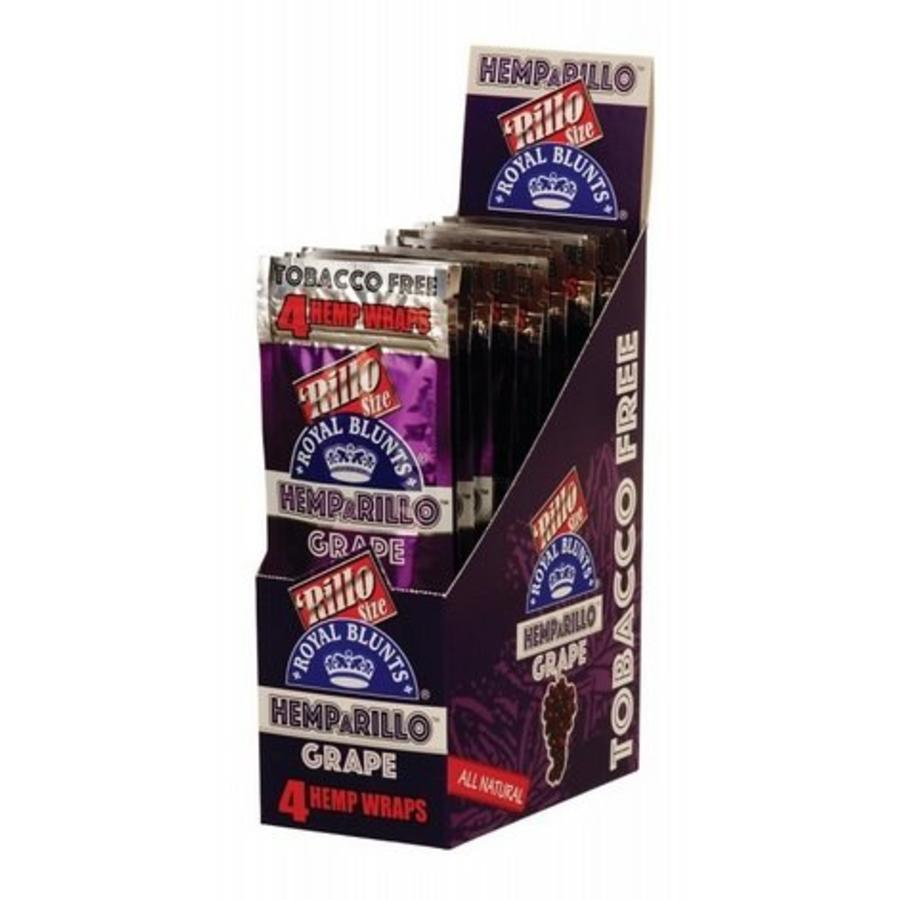 Display Hemparillo  Royal Blunts Hemp Wraps Grape