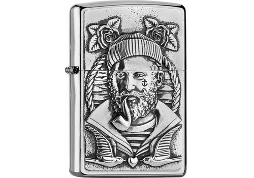 Lighter Zippo Sailor with Pipe Emblem