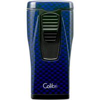 Aansteker Colibri Monaco II Carbon Design Blue