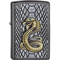 Lighter Zippo Golden Cobra Emblem