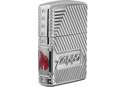 Lighter Zippo Armor Case 8 Sides Carved