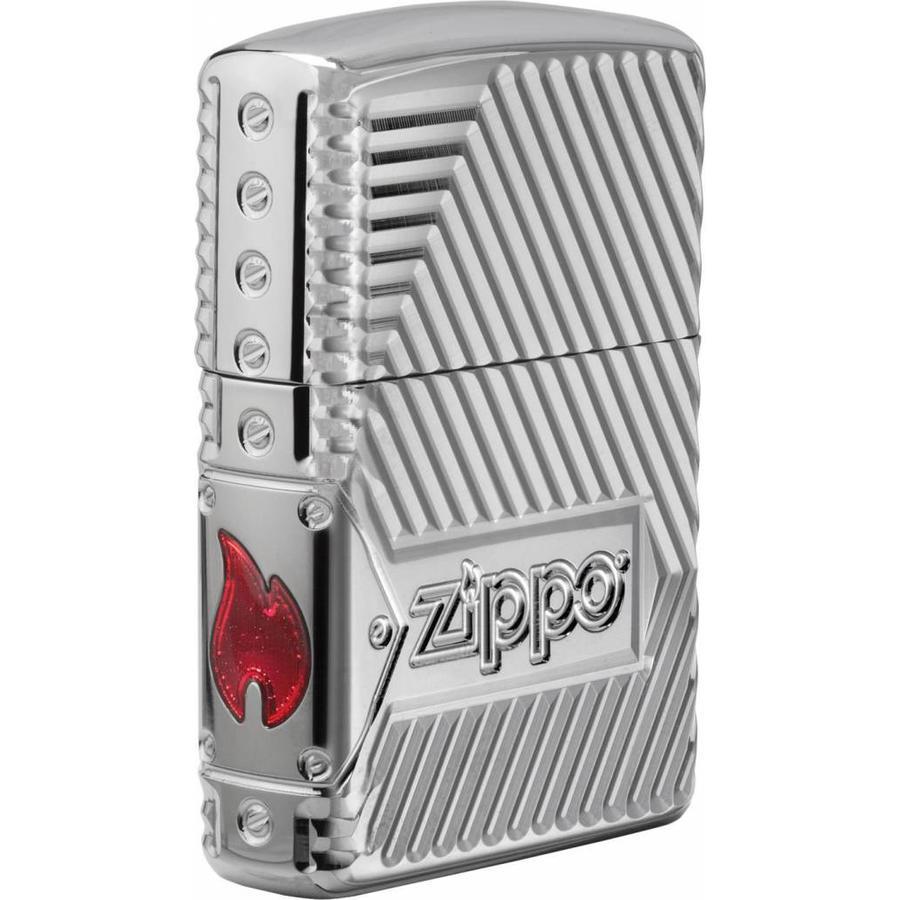 Aansteker Zippo Armor Case 8 Sides Carved