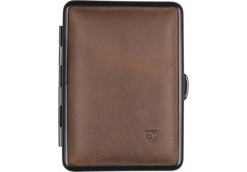 Cigarette Case Soft Leather Brown Small