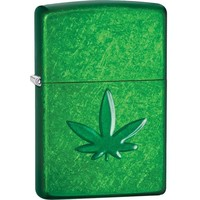 Lighter Zippo Meadow Stamped Cannabis
