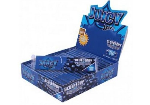 Juicy Jay's Blueberry Kingsize Slim Rolling Paper Box