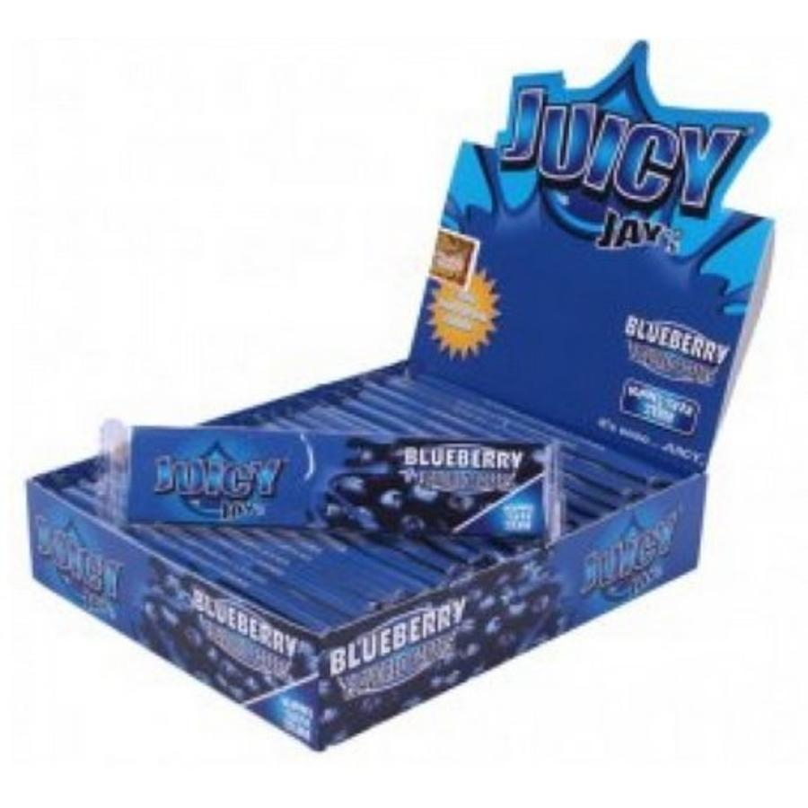 Juicy Jay's Blueberry Kingsize Slim Vloei Box