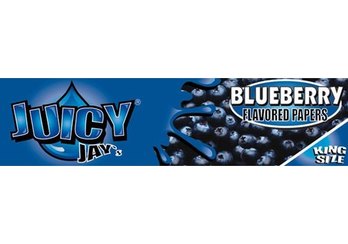 Juicy Jay's Blueberry Kingsize Slim Rolling Paper
