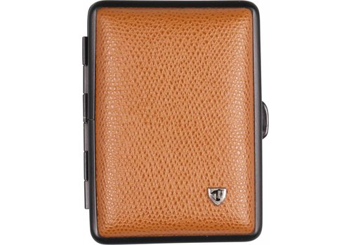 Cigarette Case Soft Leather Cognac Small
