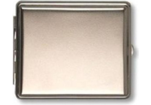 Cigarette Case Nickel Matte with Border