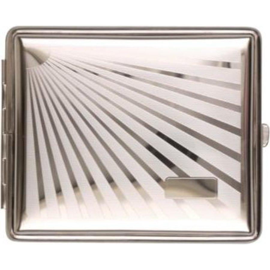 Cigarette Case Metal Sunburst