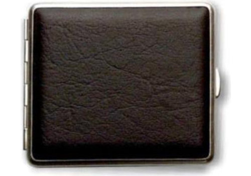 Cigarette Case Artificial Leather Black