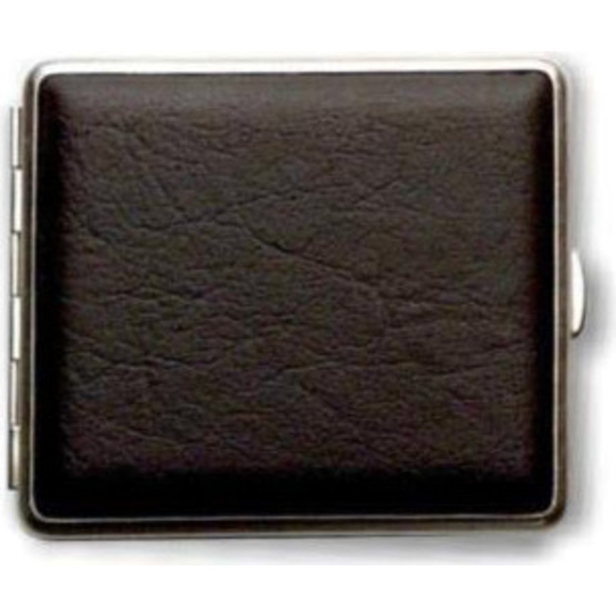 Cigarette Case Artificial Leather Black
