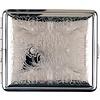 vom Hofe Cigarette Case Silverplated Floral