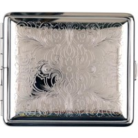 Cigarette Case Silverplated Floral