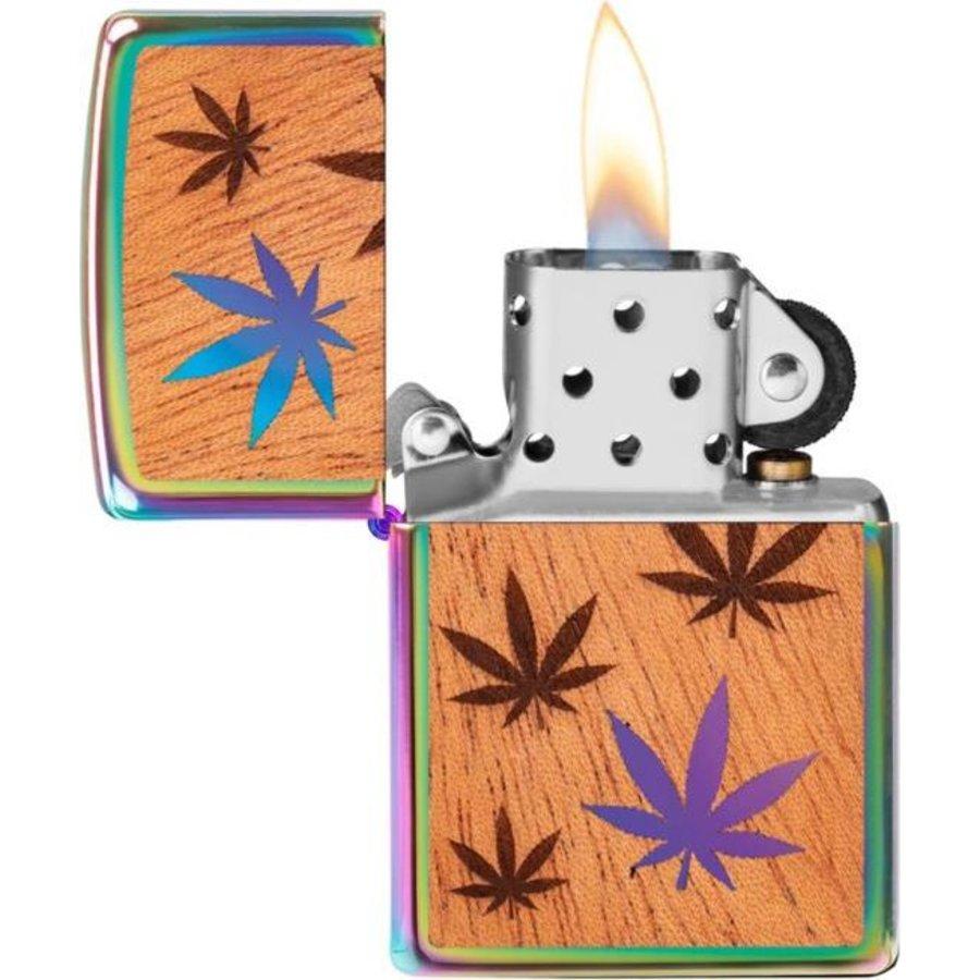 Aansteker Zippo Cannabis Woodchuck Emblem