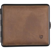 Cigarette Case Soft Leather Brown