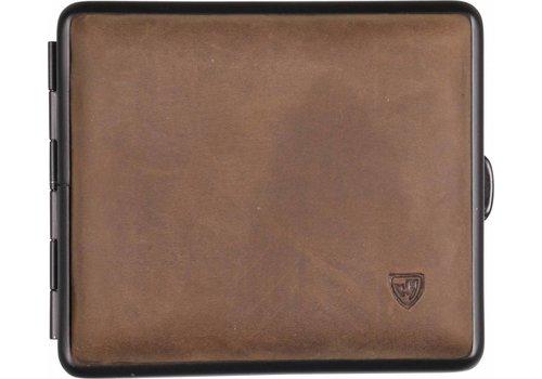 Cigarette Case Soft Leather Brown