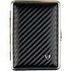 vom Hofe Cigarette Case Leather Carbon-Look Small
