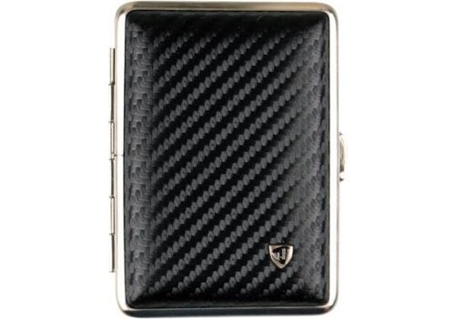 Cigarette Case Leather Carbon-Look Small