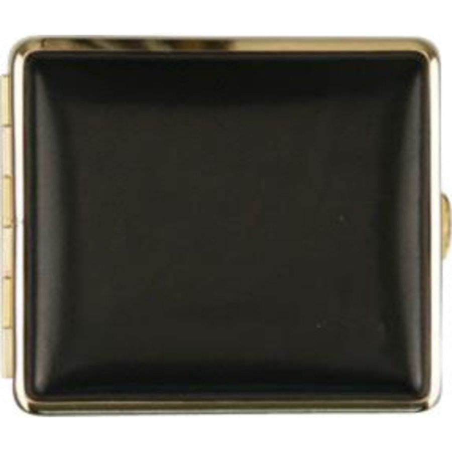 Cigarette Case Leather Black/Gold