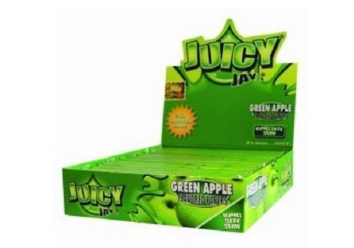 Juicy Jay's Green Apple Kingsize Slim Rolling Paper Box