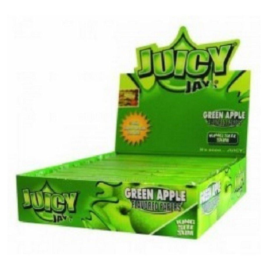 Juicy Jay's Green Apple Kingsize Slim Rolling Paper Box