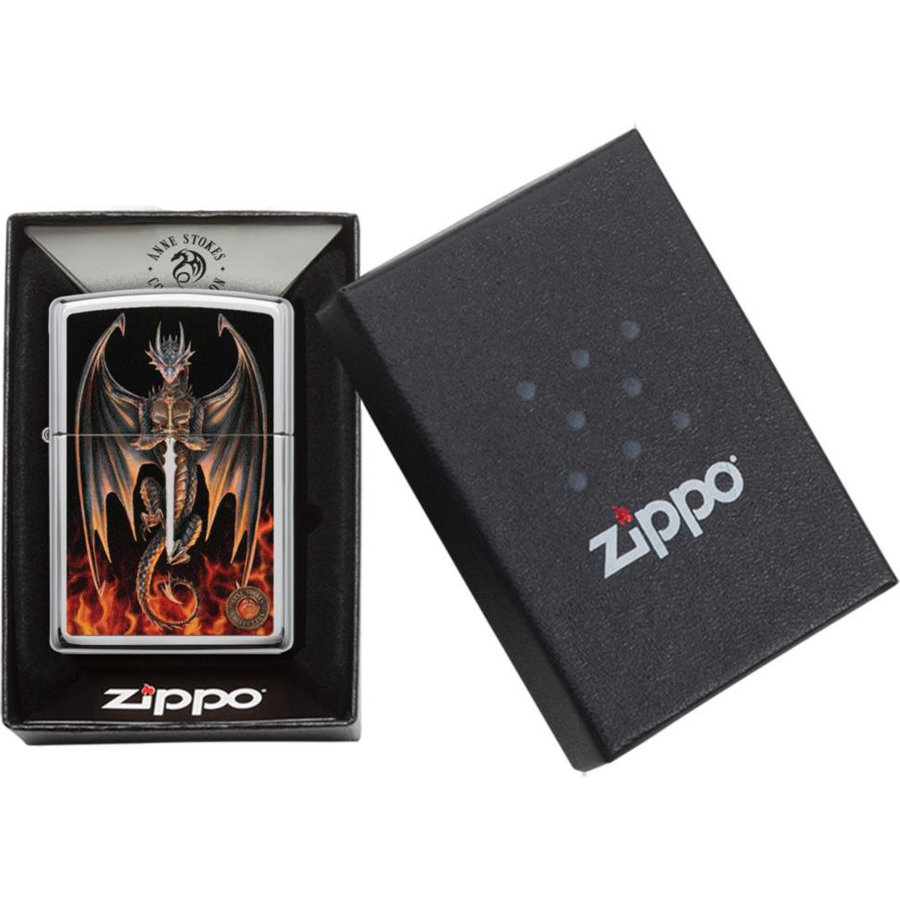 Lighter Zippo Anne Stokes Dragon/Sword