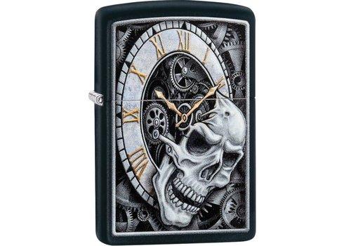 Aansteker Zippo Skull Clock