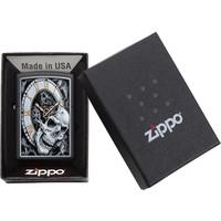 Lighter Zippo Skull Clock